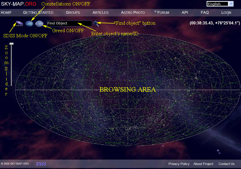 Interactive Star Map Rockin Brian - Star map now